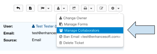 Manage Collaborators Dropdown