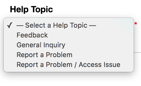 Choose Help Topic