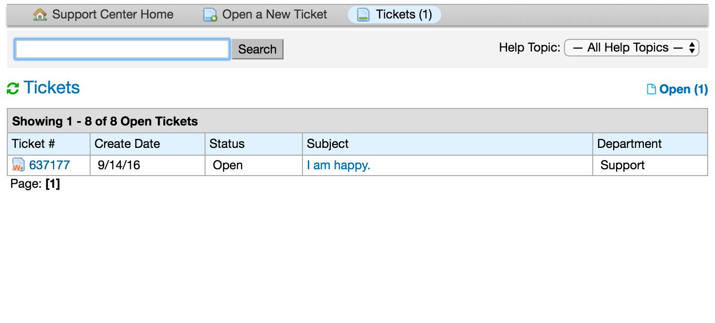 Ticket Queue Page